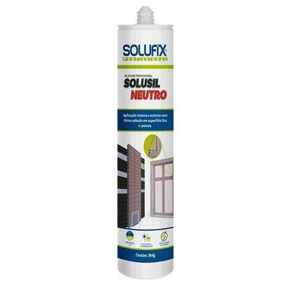 Adesivo de Silicone Neutro Incolor Profissional Solusil 280 ml Solufix