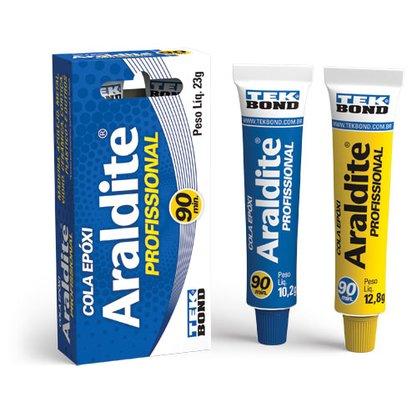 Adesivo Resina Epóxi Araldite Profissional Azul 23 gramas Pequeno
