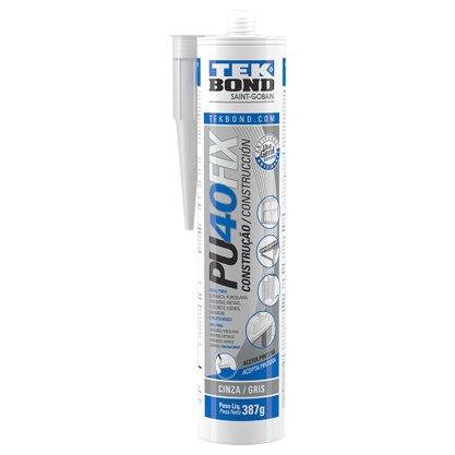 Adesivo Selante PU 40 Fix Cinza 387 gramas 280 ML Tekbond