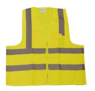 Colete Segurança Refletivo Amarelo com 1 Bolso Classe 2 Tamanho XG Plastcor