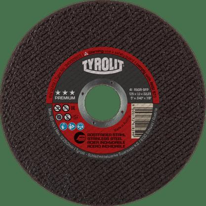Disco Corte 5 X 1.0mm x 7/8 A60R-BFP Premium 3 Estrelas Tyrolit