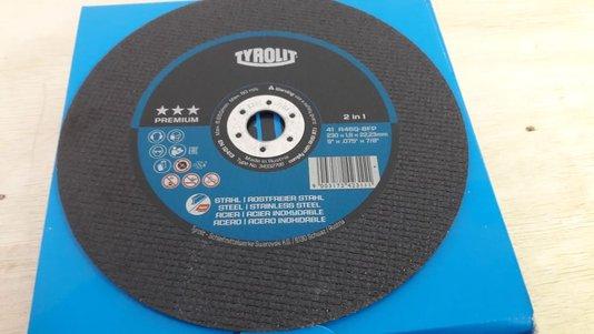 Disco Corte 9 X 1.9mm X 7/8 A46Q-BFP Premium 3 Estrelas Tyrolit