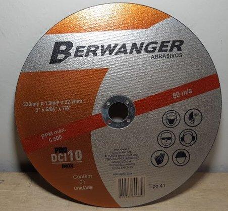 "Disco Corte  9"" x 1.9mm x 7/8 DCI 10 PRO Berwanger"