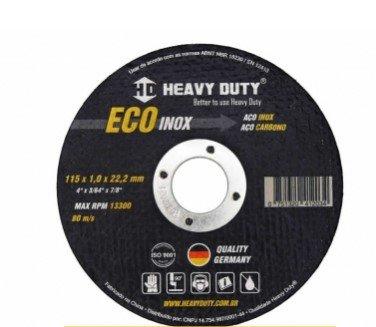 Disco Corte Inox 4.1/2 X 1.0mm X 7/8 Ecoinox Heavy Duty