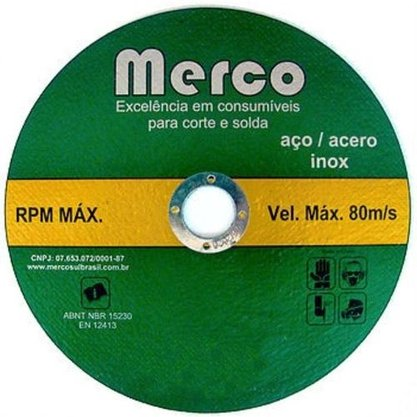 Disco Corte Inox  4.1/2 X 1.0mm X 7/8 Merco