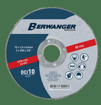 Disco de Corte 4.1/2 x 1,0mm x 7/8 Berwanger DCI 10