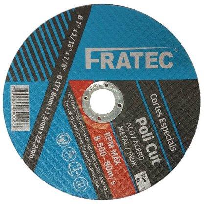 "Disco de Corte 7"" x 1.6mm x 7/8 A36TBF Poli Cut Fratec"