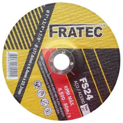 "Disco de Desbaste 7"" x 1/4 x 7/8 A24QBF FS 24 Fratec"