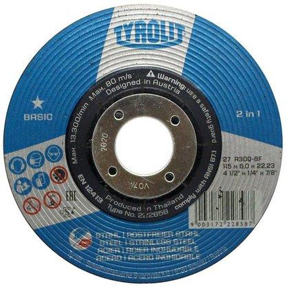 Disco Desbaste 4.1/2 X 1/4 X 7/8 A30Q-BF Tyrolit