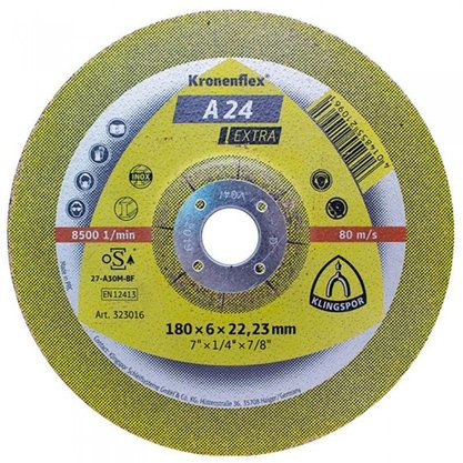 Disco Desbaste 7 X 1/4 X 7/8  A24 Extra Klingspor