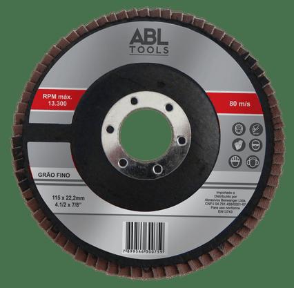 Disco Flap 4.1/2 Grão 120 ABL Tools Berwanger