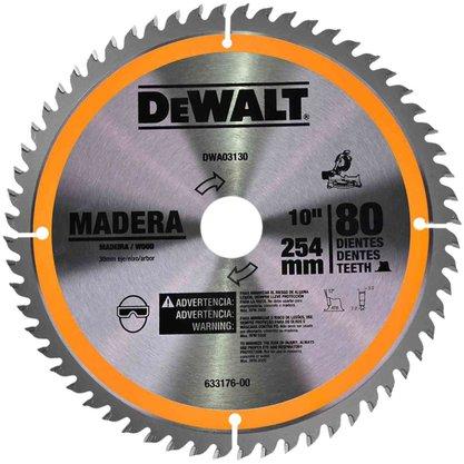 "Lâmina Serra Esquadria 10""/250mm 80 Dentes Madeira DWA 03130 Dewalt"