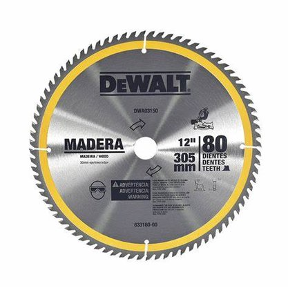 "Lâmina Serra Esquadria 12""/300mm 80 Dentes Madeira DWA 03150 Dewalt"