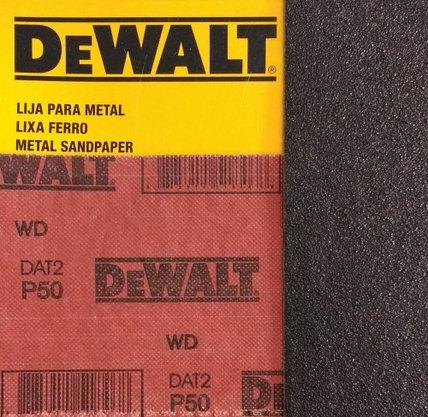 Lixa Folha Ferro 230 x 280mm Grão 50 Dewalt