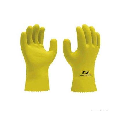 Luva Latex Amarela Multiuso Household GG CA 33326 Super Safety