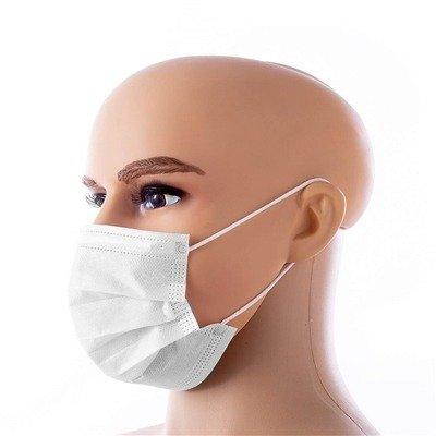 Mascara Cirúrgica Tripla Proteçao Descartável Pacote 25 peças
