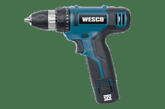 Parafusadeira a Bateria 3/8/10mm 12V Lítio com 6 Acessórios WS2532.1  Wesco