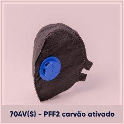 Respirador Descartável PFF 2 com Válvula Carvão Ativado CA 43743 Pro Tech